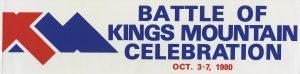Battle of Kings Mountain Bumper Sticker 1980