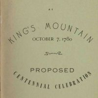 Cover of Proposed Centennial Celebration Booklet