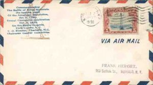 Envelope with commemorative stamp from 1930