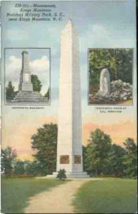Monuments postcard from the 1930s